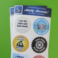 Adult Men's Reward Stickers Series 3 You Adulted Today Men Congratulations adult humor snarky sarcastic decals man male sticker decal funny