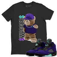 Bear Swaggers T-Shirt - Air Jordan 5 Purple Grape