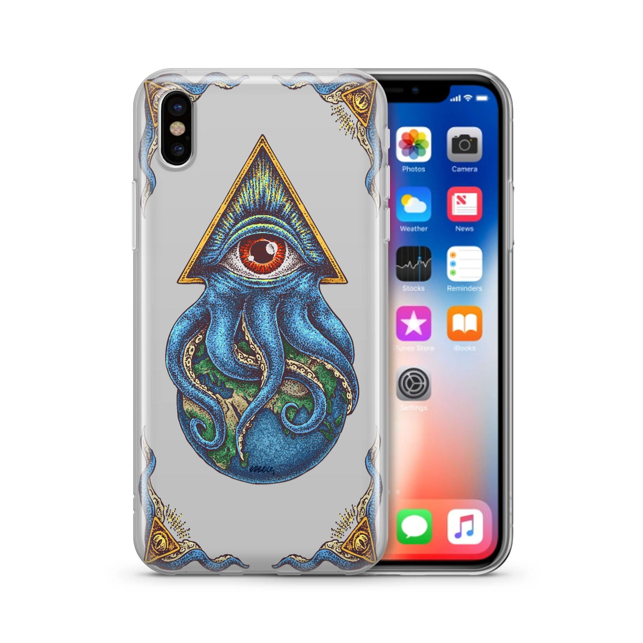 Image of Against The World - Clear TPU - iPhone Case