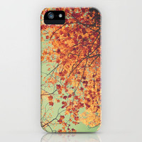 Autumn Inkblot - Yellow iPhone Case by Joy StClaire | Society6