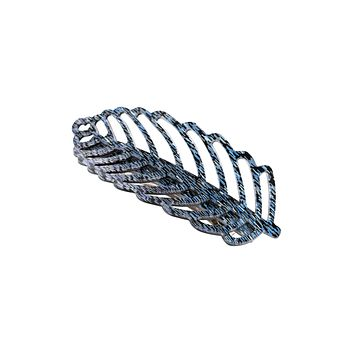 HDH3033BL - BLUE FEATHER FILIGREE HAIR PIN