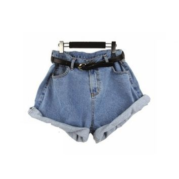 Oversized Denim Shorts