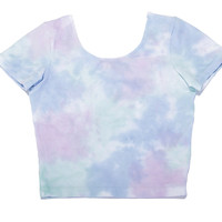 I DYE CROP TEE in COTTON CANDY