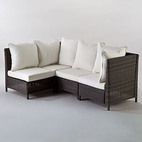 Solano All-Weather Wicker Sectional   Outdoor and Patio Furniture  Furniture   World Market