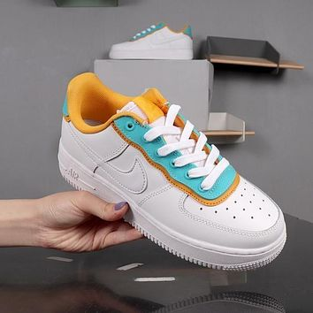 Nike Air Force 1 Low SE White Green Yellow AF1