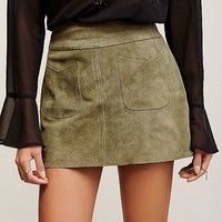 Free People Mad Love Suede Mini Skirt at Free People Clothing Boutique