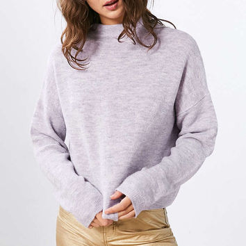 Silence + Noise Johnny Mock Neck Sweater - Urban Outfitters
