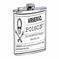 Stainless Steel 8oz Hip Silver Flask Retro Halloween Nights S22 Spooky Scary Ghosts Drinking Whiskey Liquor