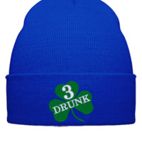 DRUNK 3 embroidery hat  - Beanie Cuffed Knit Cap