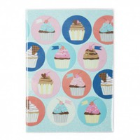 Cuppy cakes A5 glitter notebook - Notebooks - Stationery