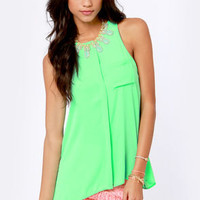 For the Win Mint Green Tank Top