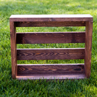 A Best Seller - Wooden Crate Photography Prop - perfect for Newborns - dark walnut color