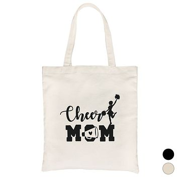 Cheer Mom Canvas Bag Washable Reusable Cute Mother's Day Gift Ideas