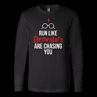 Harry Potter - run like dementors are chasing you - unisex long sleeve t shirt - TL00964LS