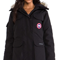 Canada Goose Expedition Parka with Coyote Fur Trim in Black