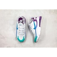 "Nike React Air Max 270 ""White&Blue&Purple"" AT6174 102"