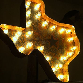 Vintage Marquee Lights  Texas by VintageMarqueeLights on Etsy