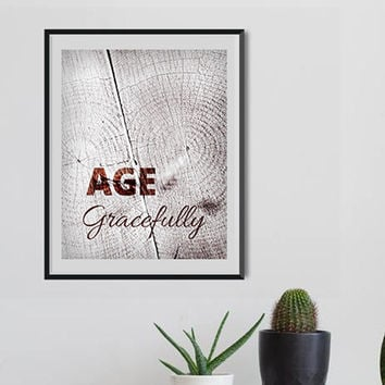 nature forest Girls Motivational Inspiring prints Women Age Inspirational quote birthday gift wood Art Mothers breast cancer, Fashion Art
