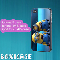 Despicable Me Minion---iphone 4 case,iphone 5 case,ipod touch 4 case,ipod touch 5 case,cute iphone 4 case,in plastic,silicone