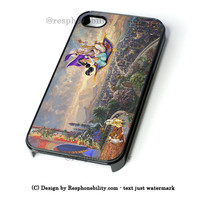 Disney Art Aladin Painting iPhone 4 4S 5 5S 5C 6 6 Plus , iPod 4 5  , Samsung Galaxy S3 S4 S5 Note 3 Note 4 , and HTC One X M7 M8 Case