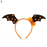 1pc Happy Halloween Hair Clasp Pumpkin Witch Skeleton Halloween Prop Make-up Party Headband fo Unique Pattern