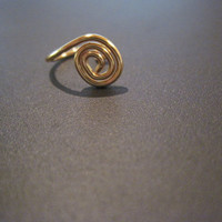 """No Piercing """"Tiny Spiral"""" Nose Cuff /Ring 1 Cuff  - Gold or 17 Color Choices"""
