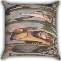 Where The Wild Things Are funny Zippered Pillows  Covers 16x16, 18x18, 20x20 Inches
