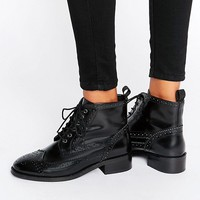 ASOS ARTISTRY Leather Lace Up Brogue Boots at asos.com