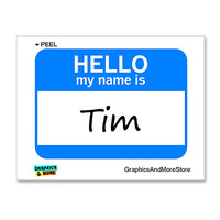 Tim Hello My Name Is Sticker
