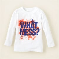 baby boy - graphic tees - what mess graphic tee   Children's Clothing   Kids Clothes   The Children's Place