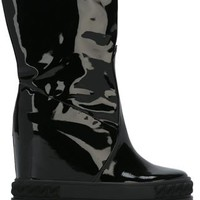 Casadei Varnished Wedge Boots - Monti - Farfetch.com