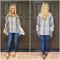 Chained in Aztec Poncho Tee