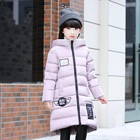 Good quality Children Winter Outerwear 2016 Baby Girls Down Coats Jacket Long Style Warm Thickening Kids Outdoor Snow proof Coat