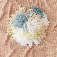 Round Shaggy Pastel Pillow | Urban Outfitters