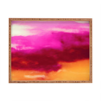 Caleb Troy Cherry Rose Painted Clouds Rectangular Tray