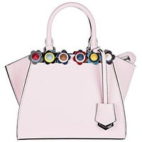 Fendi women's leather handbag shopping bag purse 3jours mini pink