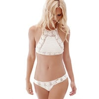 Handmade Crochet Bikini Set Swimwear Knitted Bikini Swimsuit Bathing Suit