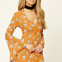 Fit and Flare Bell-Sleeve Dress
