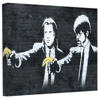 Banksy 'Pulp Fiction' Gallery Wrapped Canvas | Overstock.com