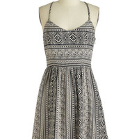 ModCloth Mid-length Sleeveless A-line Treble in Paradise Dress