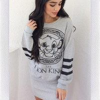 Lion King Sweater- Grey