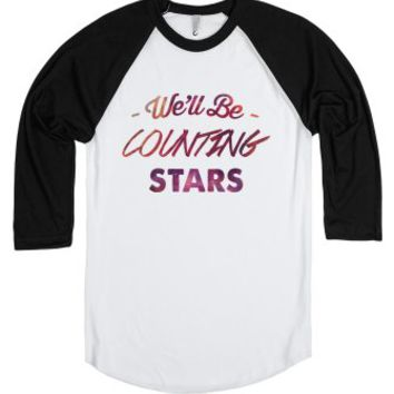 We'll Be Counting Stars - One Republic-Unisex White/Black T-Shirt