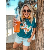 Texas Pumpkin Teal Graphic Tee (S-2XL)