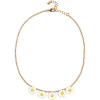 River Island Girls gold tone daisy chain necklace