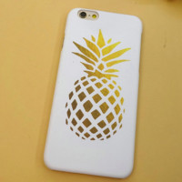 Unique Pineapple Solid Case Cover for iPhone 6 6s Plus Gift
