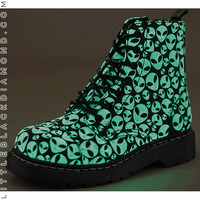 Glow-In-the-Dark Alien Combat Boot
