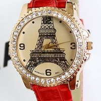 Fashion Eiffel Tower Fashion Rhinestone Watches from Topboutique