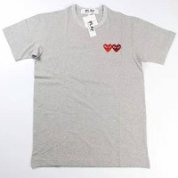 Short Sleeve Cotton Couple Round-neck Casual T-shirts [10182865351]