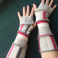 Cashmere, Upcycled, Recycled, Fingerless Gloves, Armwarmers