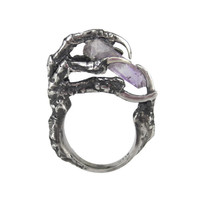 The Hunted Sterling Silver Crow Claw Ring   Eilisain Jewelry